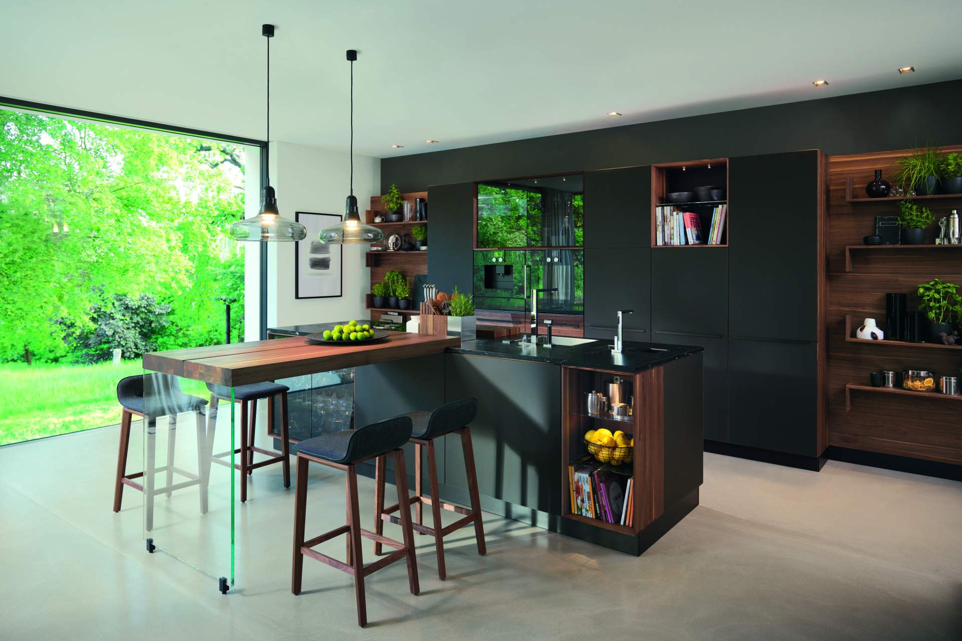 k che linee black line nussbaum biom bel genske. Black Bedroom Furniture Sets. Home Design Ideas